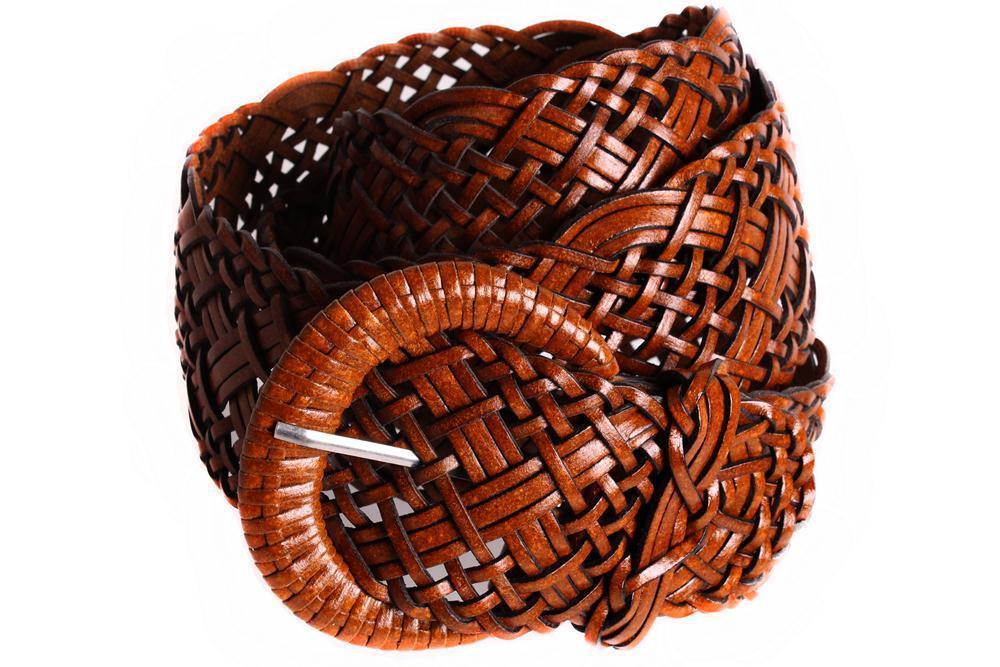 Женский плетеный пояс Dovhani PY4512388 100-110 см Коричневый