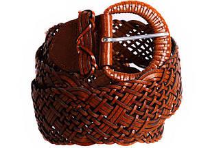 Женский плетеный пояс Dovhani PY4512388 100-110 см Коричневый, фото 2