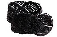 Женский плетеный пояс Dovhani PY4524389 105 см Черный, фото 1