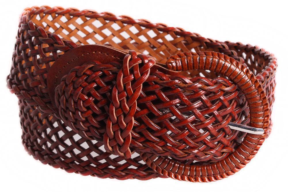 Женский плетеный пояс Dovhani PY4557392 105 см Коричневый