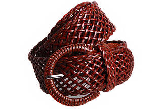 Женский плетеный пояс Dovhani PY4557392 105 см Коричневый, фото 2
