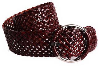 Женский плетеный пояс Dovhani PY4618397 105 см Коричневый, фото 3