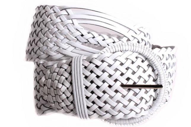 Женский плетеный пояс Dovhani PY4680401 105 см Белый, фото 2