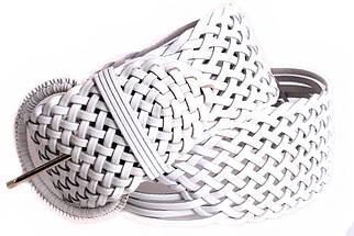 Женский плетеный пояс Dovhani PY4680401 105 см Белый, фото 3