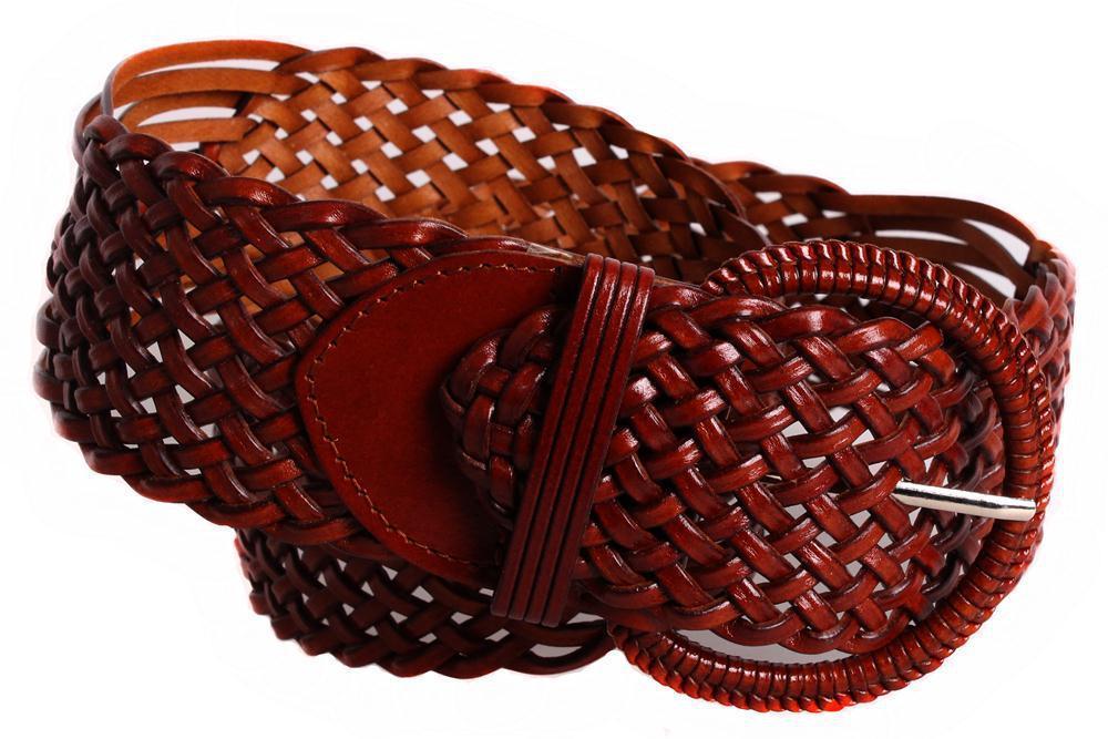 Женский плетеный пояс Dovhani PY4700403 105 см Коричневый