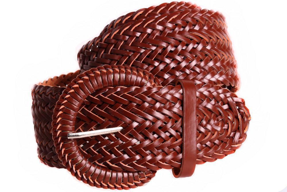 Женский плетеный пояс Dovhani PY4751408 105 см Коричневый