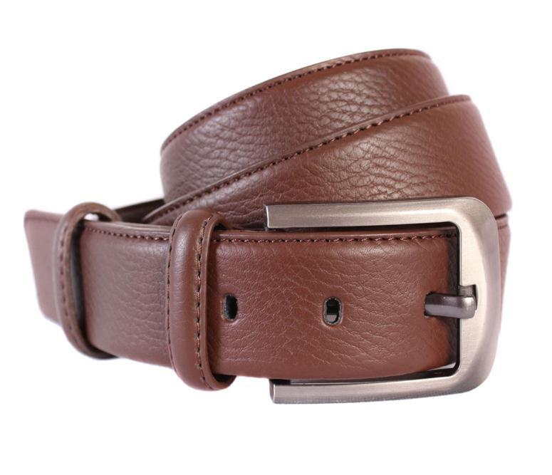 Мужской кожаный ремень Dovhani 301116471 115 см Коричневый