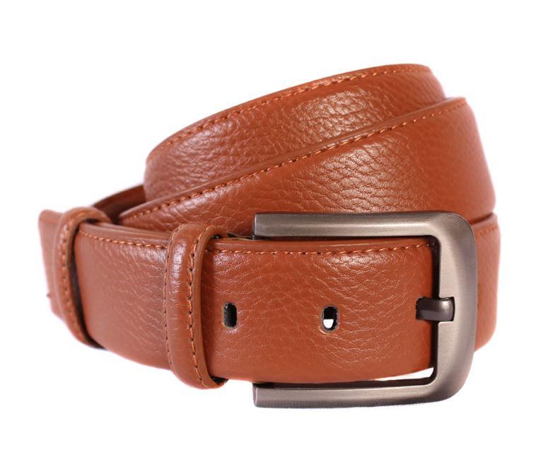 Мужской кожаный ремень Dovhani 301117472 115 см Коричневый