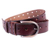 Мужской кожаный ремень Dovhani 301118473 115 см Бордовый, фото 1