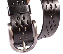 Мужской кожаный ремень Dovhani 301119474 115 см Черный, фото 2