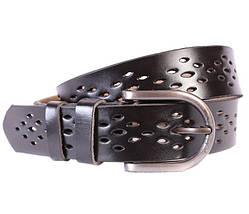 Мужской кожаный ремень Dovhani 301119474 115 см Черный, фото 3