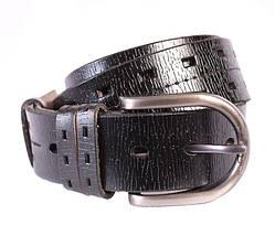 Мужской кожаный ремень Dovhani 301120475 115 см Черный, фото 3