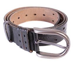 Мужской кожаный ремень Dovhani 301120475 115 см Черный, фото 2