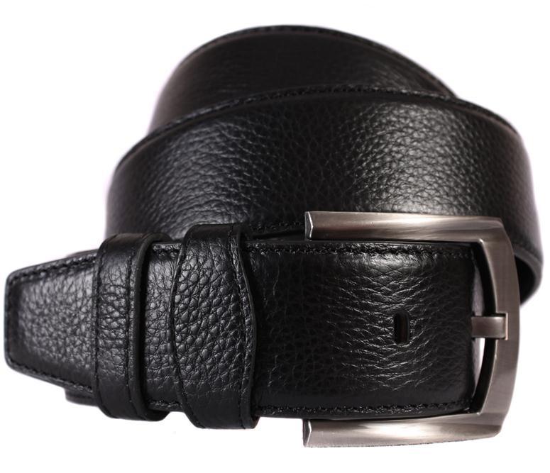 Мужской кожаный ремень Dovhani 301145478 115 см Черный