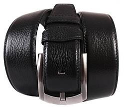 Мужской кожаный ремень Dovhani 301145478 115 см Черный, фото 2