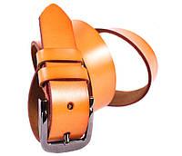 Мужской кожаный ремень Dovhani FIN1107-11501 120 см Рыжий, фото 1