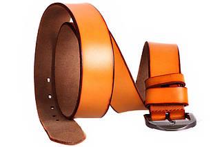 Мужской кожаный ремень Dovhani FIN7405-11502 120 см Рыжий, фото 2