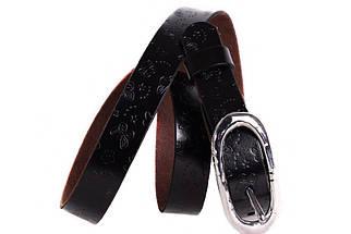 Женский кожаный узкий ремень Dovhani кт6456518 105-115 см Коричневый, фото 3