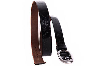 Женский кожаный узкий ремень Dovhani кт6456518 105-115 см Коричневый, фото 2