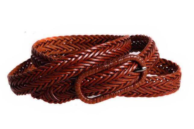 Женский кожаный узкий ремень Dovhani кт6467519 105-115 см Коричневый, фото 2