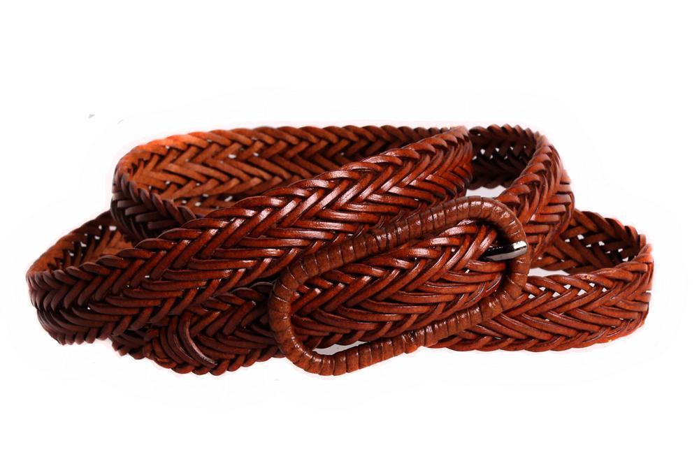 Женский кожаный узкий ремень Dovhani кт6467519 105-115 см Коричневый
