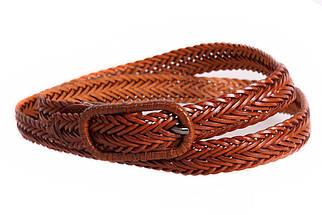 Женский кожаный узкий ремень Dovhani кт6467519 105-115 см Коричневый, фото 3