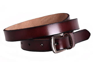 Женский кожаный узкий ремень Dovhani кт6616526 105-115 см Бордовый, фото 2