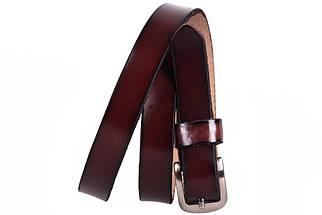 Женский кожаный узкий ремень Dovhani кт6616526 105-115 см Бордовый, фото 3