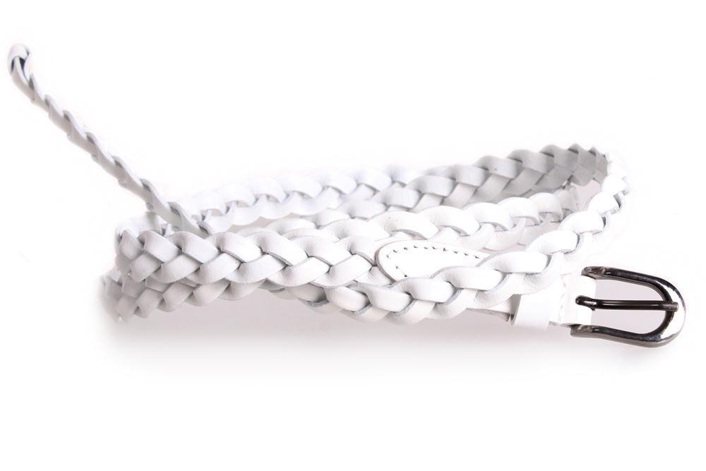 Женский узкий ремень Dovhani кт6694531 105-115 см Белый