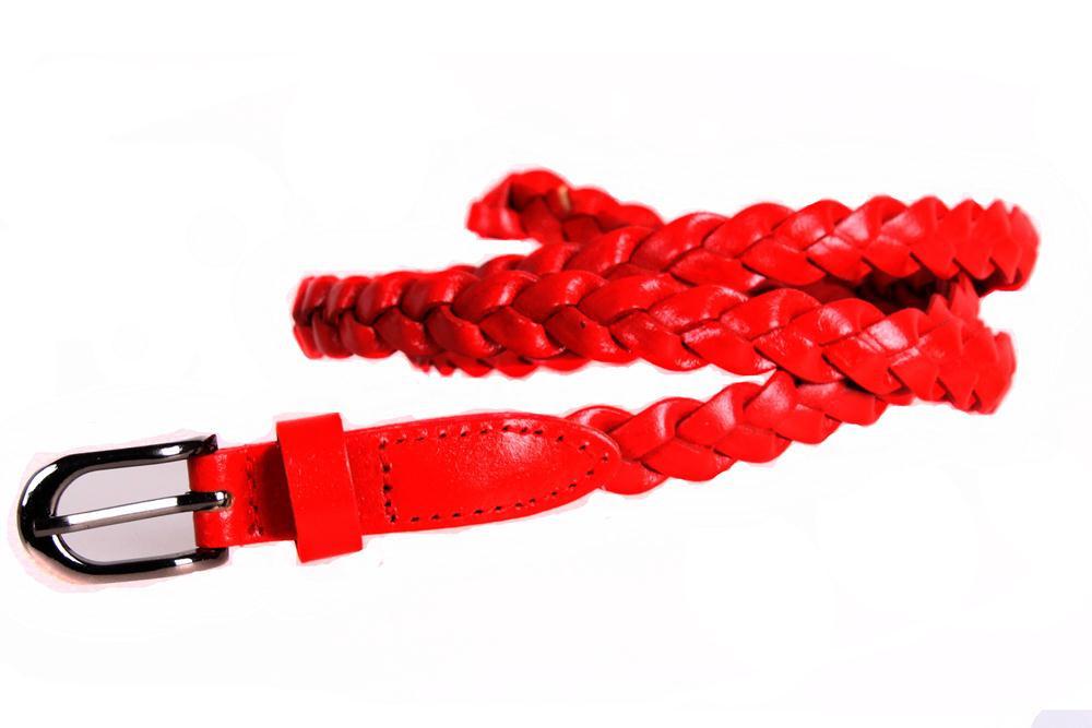 Женский узкий ремень Dovhani кт6721533 105-115 см Красный