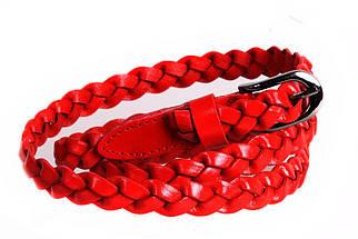 Женский узкий ремень Dovhani кт6721533 105-115 см Красный, фото 2