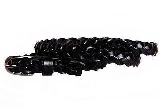 Женский узкий ремень Dovhani кт6743535 105-115 см Черный, фото 3