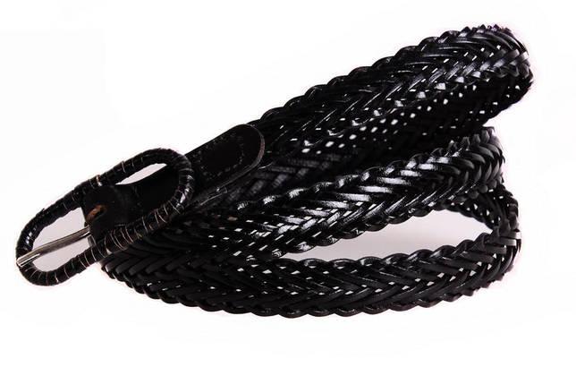 Женский узкий ремень Dovhani кт6811540 105-115 см Черный, фото 2