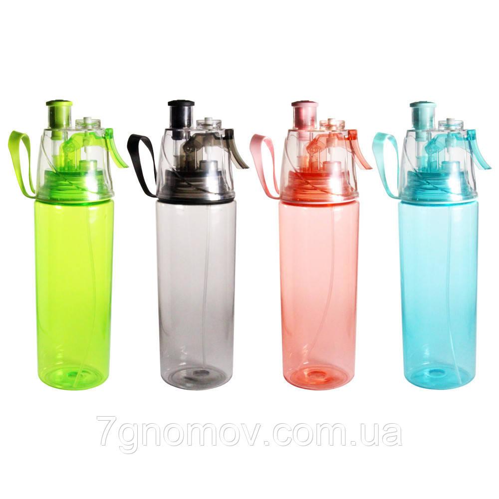 Бутылка для воды и напитков с дозатором Праздник 700 мл