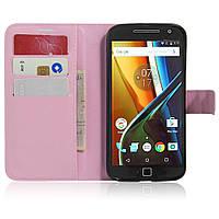Чехол-книжка Litchie Wallet для Motorola Moto G4 XT1622 / Moto G4 Plus XT1642 Светло-розовый
