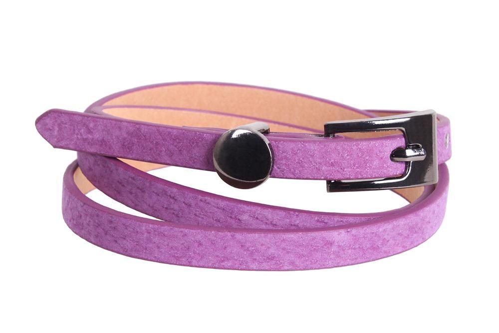 Женский узкий ремень Dovhani 49173559 105 см Фиолетовый