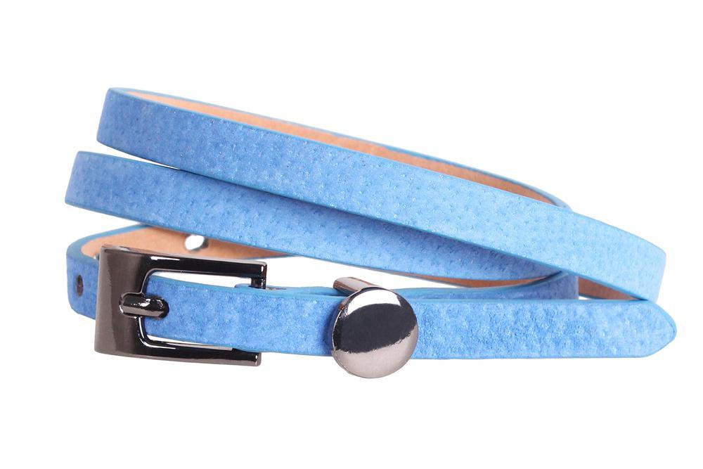 Женский узкий ремень Dovhani 49174560 105 см Голубой