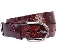 Женский кожаный ремень Dovhani 301124571 110-115 см Бордовый, фото 1