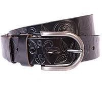 Женский кожаный ремень Dovhani 301126572 110-115 см Черный, фото 1