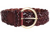Женский плетеный ремень Dovhani PL4380573 110-115 см Темно-Коричневый, фото 1