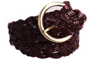 Женский плетеный ремень Dovhani PL4380573 110-115 см Темно-Коричневый, фото 2