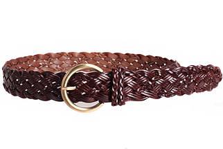 Женский плетеный ремень Dovhani PL4380573 110-115 см Темно-Коричневый, фото 3