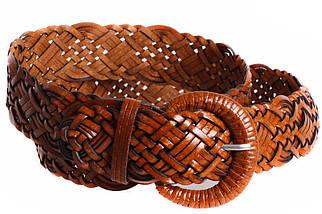 Женский плетеный ремень Dovhani PL4471582 110-115 см Коричневый, фото 3
