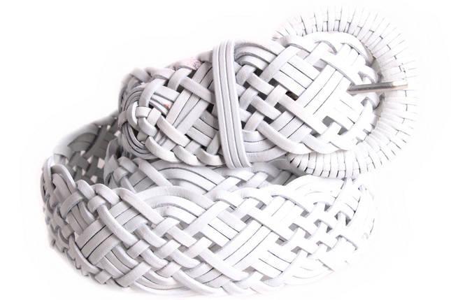 Женский плетеный ремень Dovhani PL4480583 110-115 см Белый, фото 2