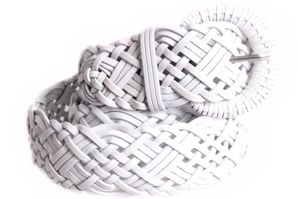 Женский плетеный ремень Dovhani PL4480583 110-115 см Белый