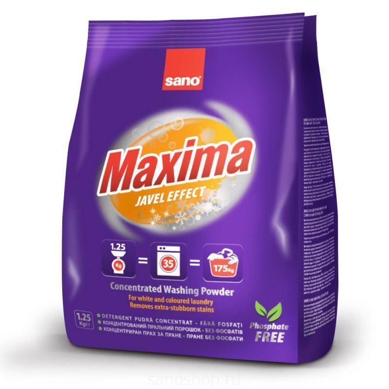 Sano Maxima Javel Effect концентрированный стиральный порошок 1.25 кг