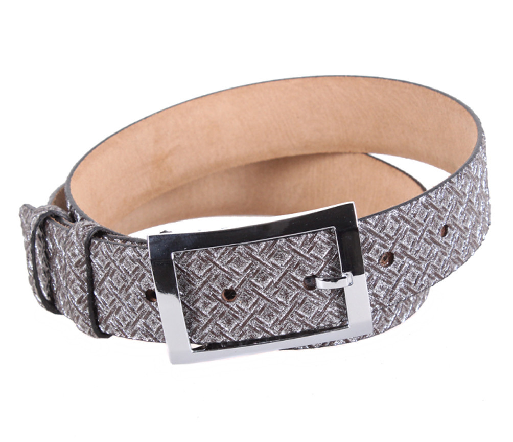 Женский кожаный ремень Dovhani WAK1388-106593 110-115 см Серебристый