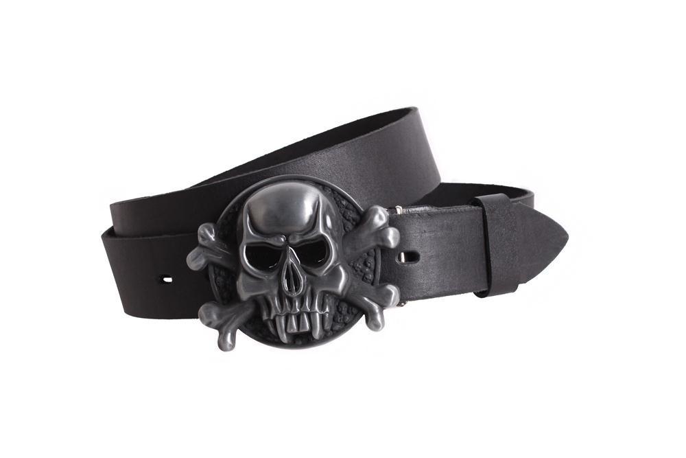 Мужской кожаный ремень Dovhani BLX49127652 120 см Черный, фото 1
