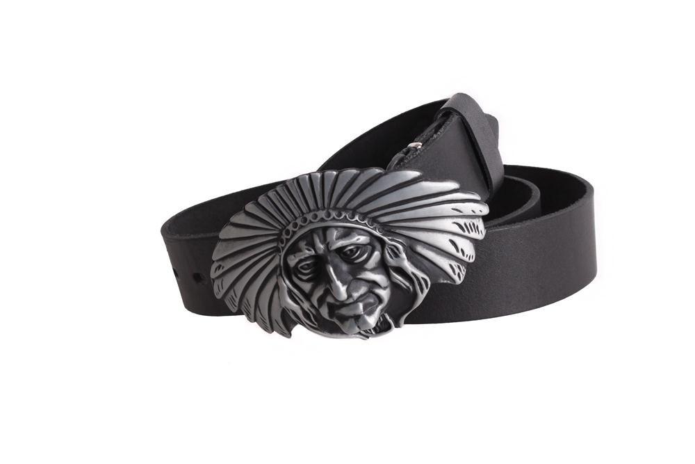 Мужской кожаный ремень Dovhani BLX49130655 120 см Черный