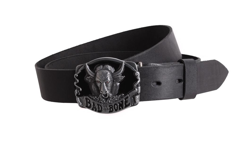 Мужской кожаный ремень Dovhani BLX49140665 120 см Черный